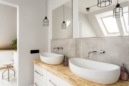 unique modern vanity design and installation in Doncaster